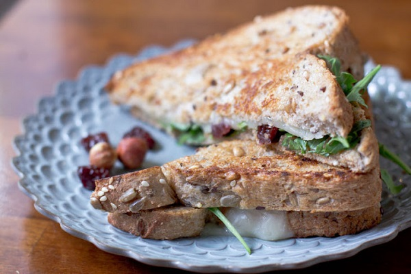 Grilled Cheese with Dried Cherries and Hazelnut Butter from Vintage Mixer