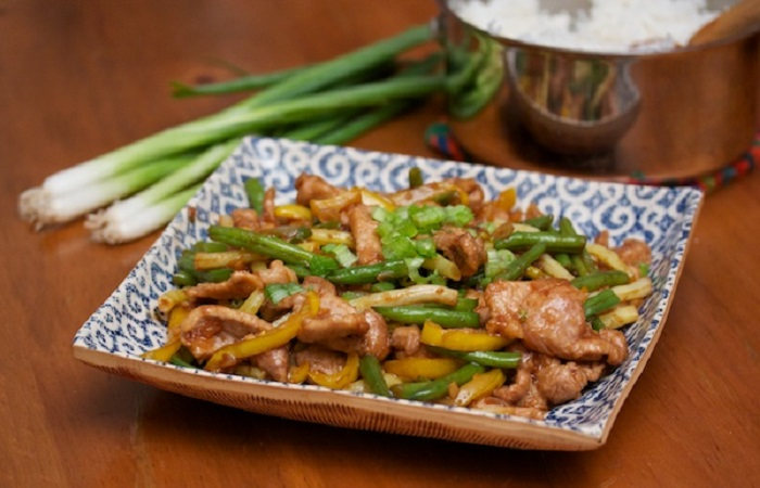 Pork and String Bean Stir Fry from Big Girls Small Kitchen