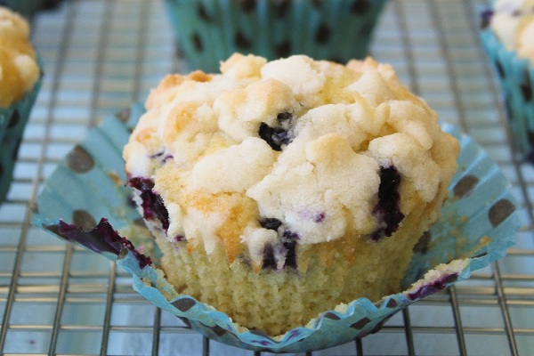 Brown Butter Blueberry Muffins from Spoonful of Flour