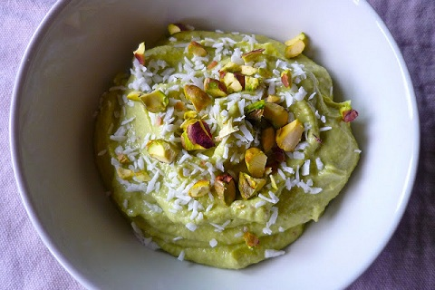 Raw Pistachio Pudding