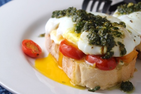 Caprese Eggs on Toast