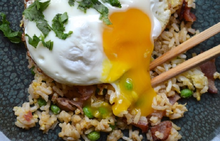 Bacon and Egg Fried Rice from Serious Eats Photo by Sydney Oland