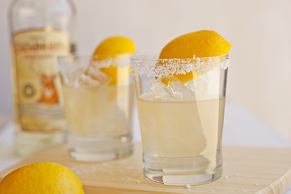 Salty Lemonade Tequila Cocktails from One Martini at a Time