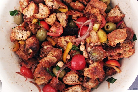 Caprese Panzanella from Bites Out of Life