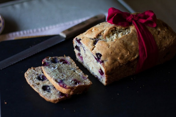 Blueberry Coconut Banana Bread from Blueberry Octopie