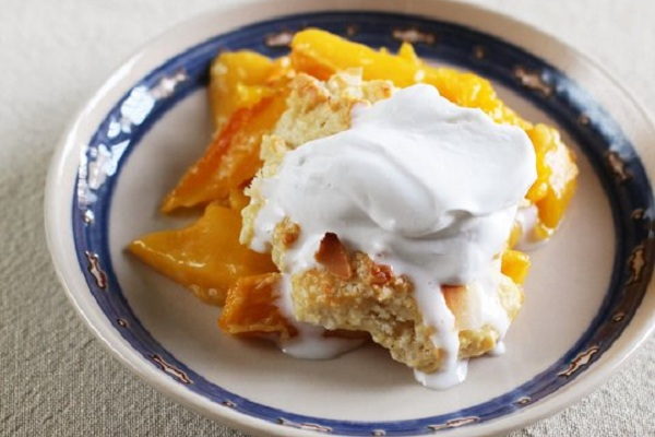 Mango Cobbler with Coconut Whipped Cream from The Kitchn, Photo by Anjali Prasertong