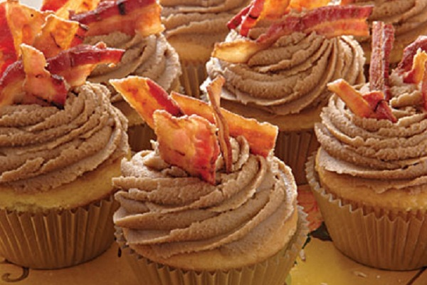 Maple Bacon Cupcakes from My Recipes
