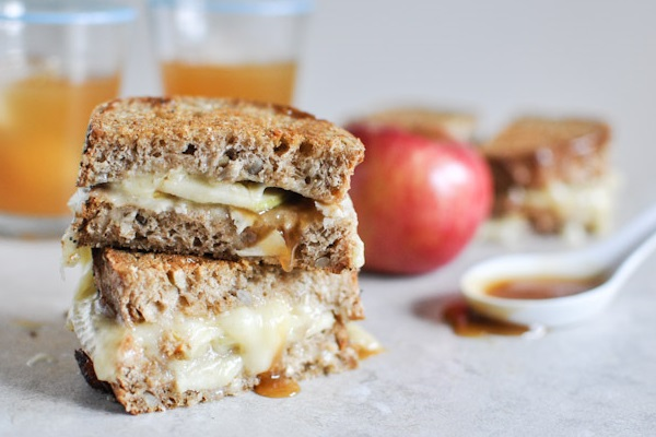 Caramel Apple Grilled Cheese from How Sweet It Is