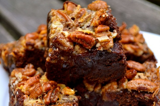 Pecan Pie Brownies from The Prepped Chef