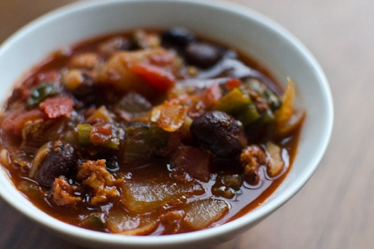 Chipotle, Chorizo, and Red Beans Stew from Serious Eats Photo by Max Falkowitz