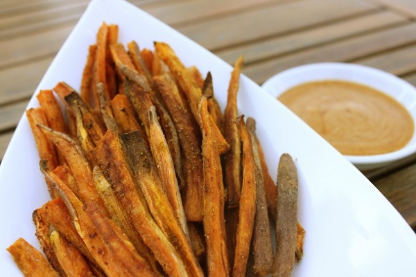 Yummy Baked Sweet Potato Fries from I Adore Food
