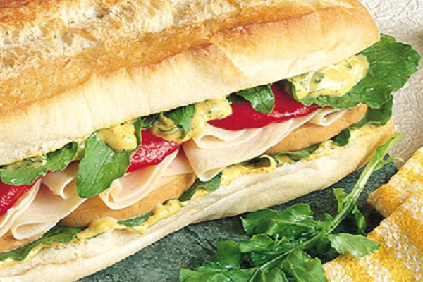 Smoked Mozzarella and Turkey Heroes from Hellmann's