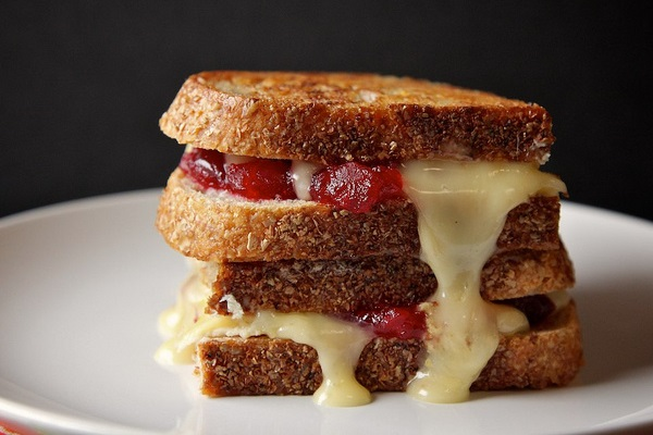 Cranberry Brie Grilled Cheese from Joy the Baker