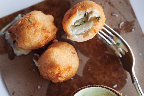 Blue Crab Beignets from Epicurious
