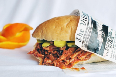 Orange Barbecue Pulled Pork Sandwiches