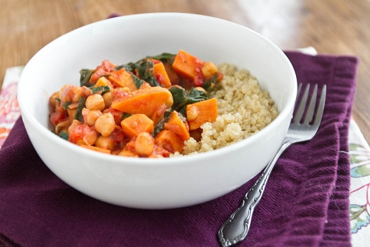 Sweet Potato and Chickpea Stew with Quinoa from Naturally Ella