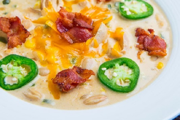 Jalapeno Popper Chicken Soup from Closet Cooking