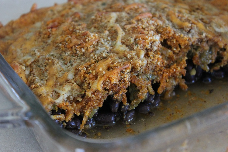 Southwestern Black Bean and Green Chili Gratin by Yumology