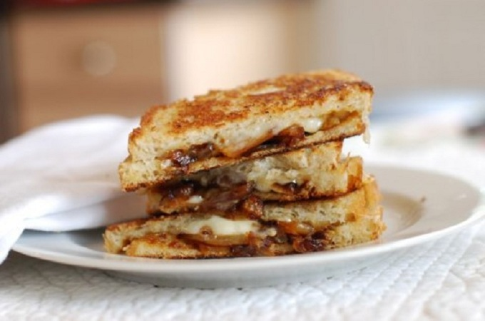 Caramelized Onion Grilled Cheese from The Naptime Chef