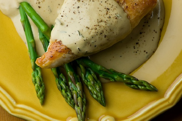 Chicken with Mustard Wine Cream Sauce from Framed Cooks