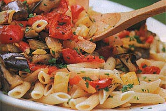 Ratatouille with Penne from Epicurious Photo from Romulo Yanes