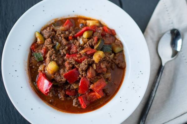 Spicy Elk Chili from Civilized Cavement Cooking Creations