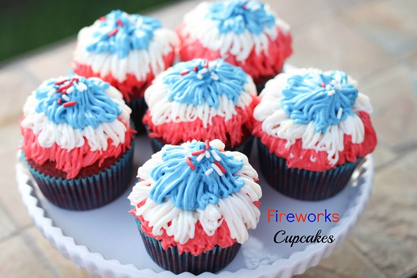 Fireworks Cupcakes from The Nifty Foodie