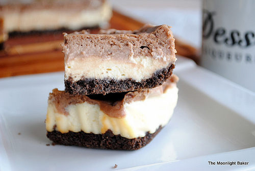Nutella Cheesecake Layer Bars from The Moonlight Baker