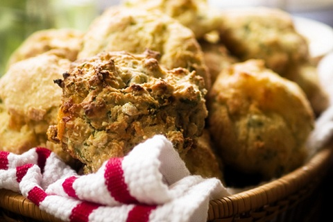 Scallion and Cheddar Drop Biscuits
