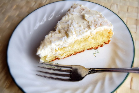 Coconut Cake with Vanilla