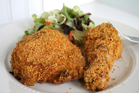 Baked Buttermilk Corn Flake Chicken