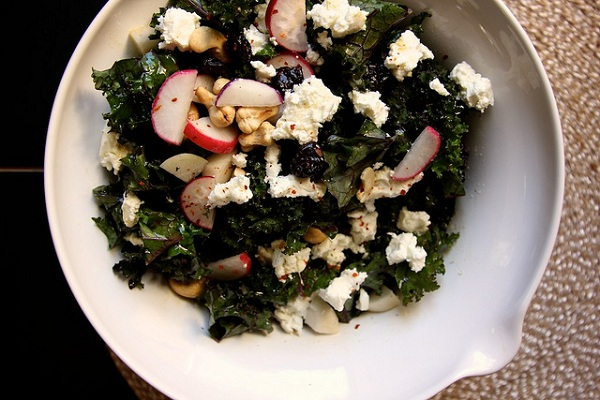 Kale, Cherry, and Cashew Salad from Joy the Baker