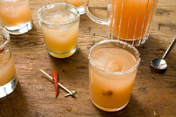 Red Chile Guava Margaritas from Chow (Photo by Brian McGrory)