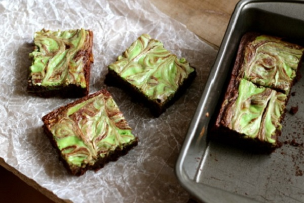 Mint Cheesecake Swirl Brownies from Alaska from Scratch