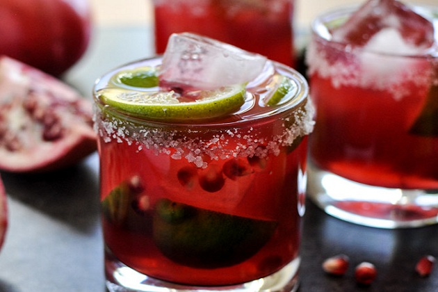 Pomegranate Margaritas from How Sweet It Is
