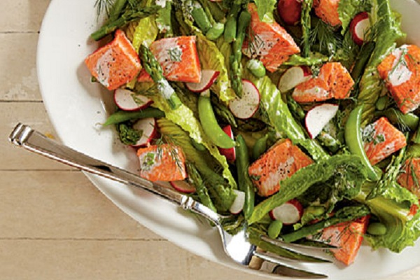 Spring Salmon and Vegetable Salad from My Recipes Photo by Becky Luigart-Stayner