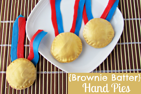 Olympic Gold Medal Brownie Batter Hand Pies