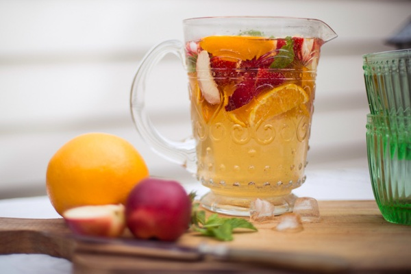 Fruity White Wine Sangria from Adeline and Lumiere