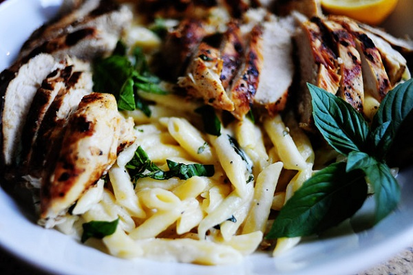 Grilled Chicken with Lemon Basil Pasta from The Pioneer Woman
