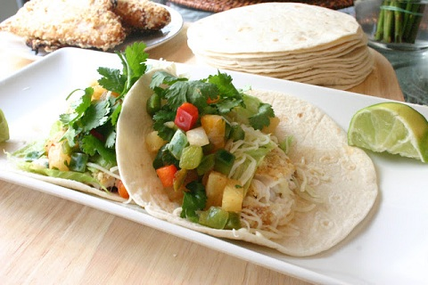 Tequila Lime Tilapia Tacos