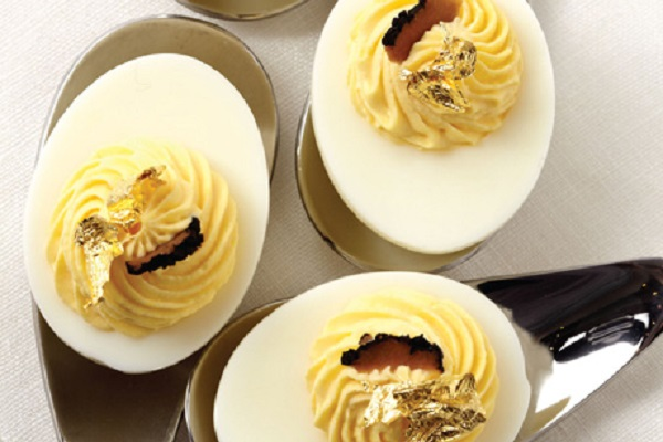 Luxe Truffle Deviled Eggs from Epicurious