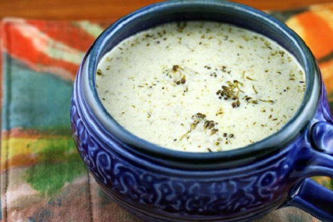 Cream of Broccoli and Cheese Soup