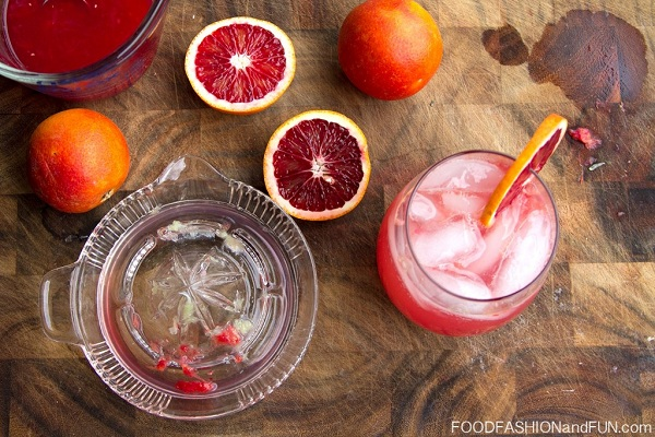 Blood Orange Tequila Drink with Lime from Food, Fashion, and Fun