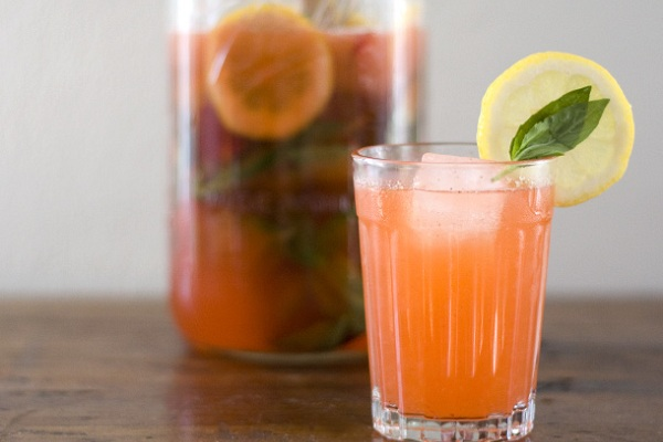Strawberry Basil Lemonade from Serious Eats