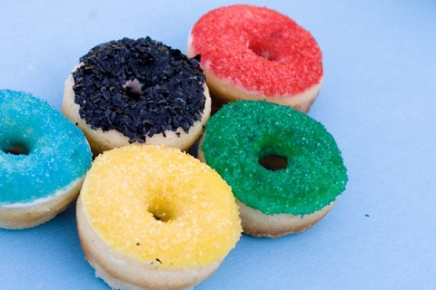 Olympic Donut Rings from Confetti Sunshine