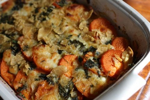 Southwestern Sweet Potato Gratin