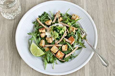 Tortilla Salad with Tofu and Cashew Cream
