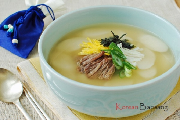 Tteokguk (Rice Cake Soup) from Korean Bapsang