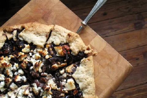 Caramelized Onion and Feta Tart