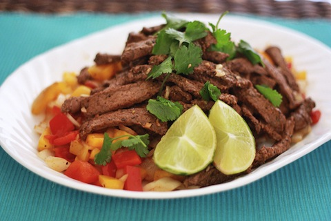 Chipotle Lime Steak with Peppers and Onions